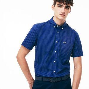 Lacoste Blue Check Short Sleeve Shirt